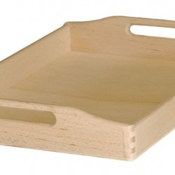 Δίσκος μνημοσύνου ξύλινος με λαβή 45x30x7 cm 5 τεμάχια