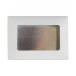 Κουτί μνημοσύνου χάρτινο με παράθυρο σε λευκό χρώμα 17x12x4.5 cm 10 κιλά